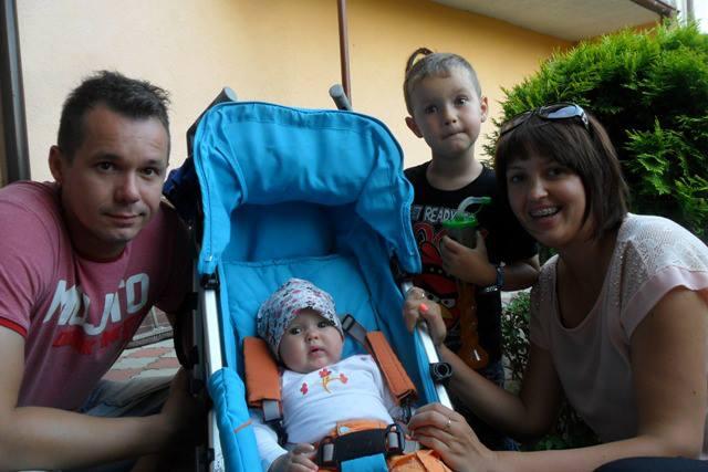 Sandra z rodzinką